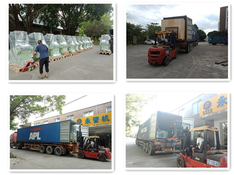 One Day 3 Containers ribbon Machinery Loading